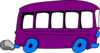 Purple School Bus Clip Art