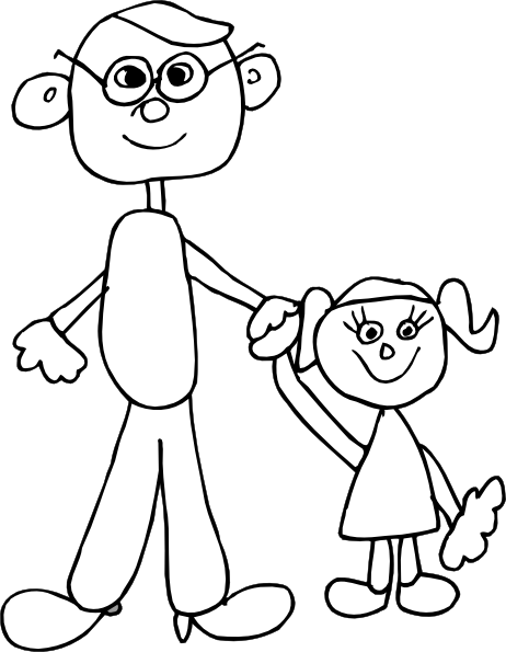 Dad Holding Daughters Hand Clip Art at Clker.com - vector ...