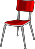 Red Student Desk Chair Clip Art