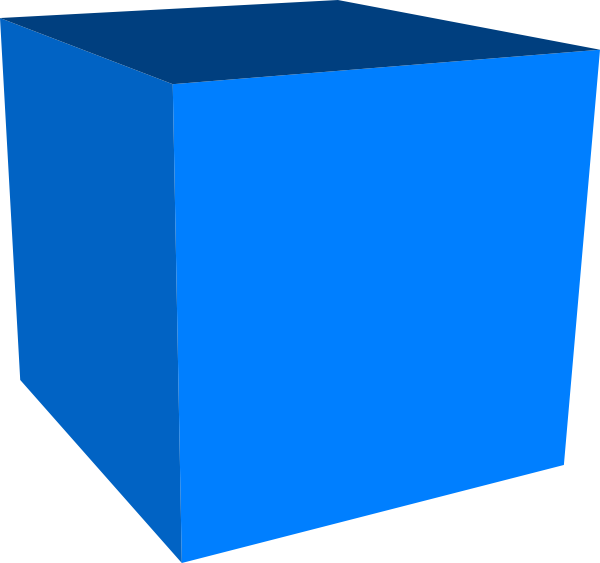 Blue Cube Clip Art at Clker.com - vector clip art online ...