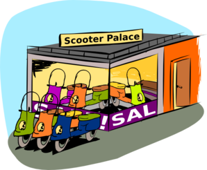 Trading Scooters Clip Art