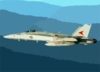 An F/a-18  Hornet  From Carrier Air Wing One Seven (cvw 17) Clip Art