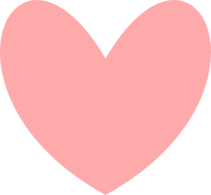 Pinky Paw Print Heart Clip Art at Clker.com - vector clip ...