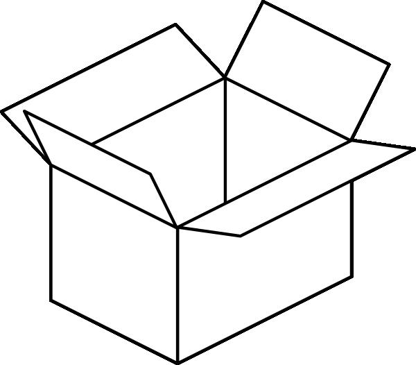 Carton Open Box Clip Art At Clker Com Vector Clip Art