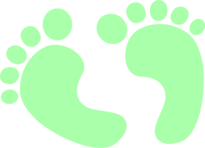 Baby Feet Baby Green Clip Art at Clker.com - vector clip ...