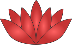 Red Pink Lotus Clip Art