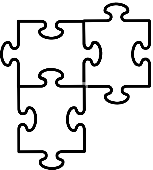 2 Piece Jigsaw Puzzle Template http://www.clker.com/clipart-puzzle-pieces-connected.html