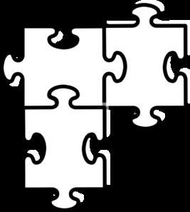 puzzle pieces connected clip art at clker com vector clip art