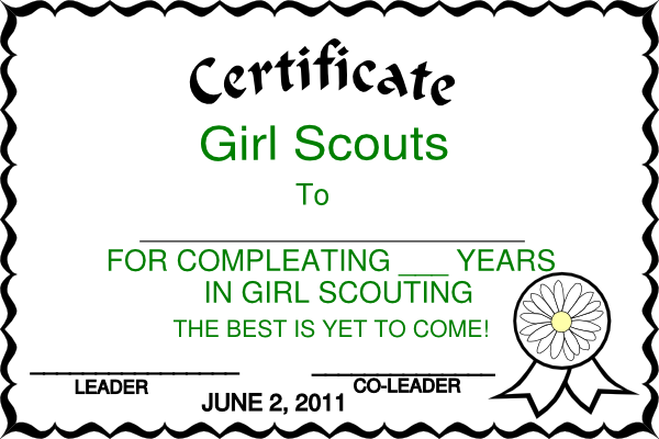 Girl Scout Border Downloads