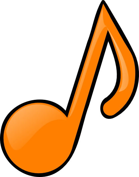 Musical Note Orange Clip Art at Clker.com - vector clip ...