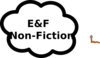 E And F Nonfiction Sign Clip Art