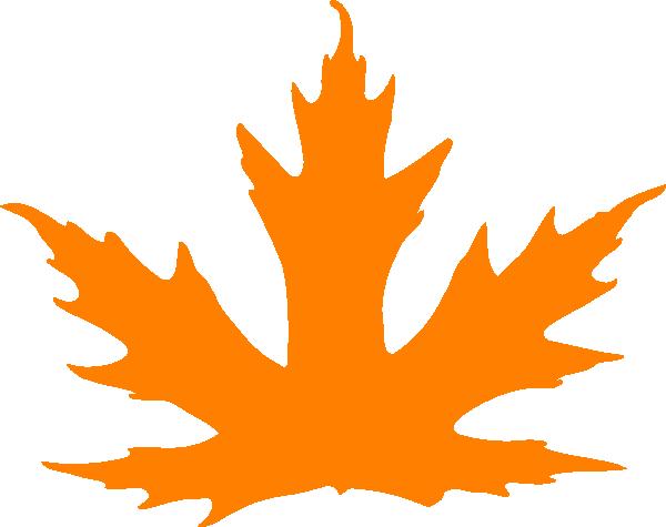 orange leaf clip art - photo #5