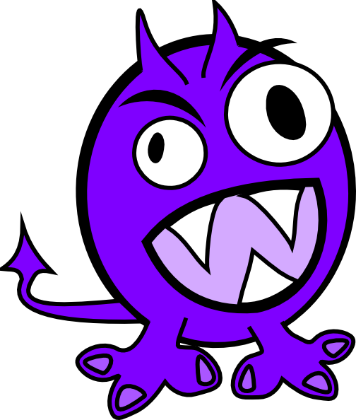 Purple Monster Clip Art at Clker.com - vector clip art ...