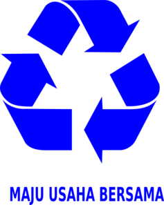 Blue Recycle Symbol Clip Art