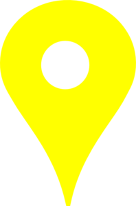 Map Pin Yellow2 Clip Art