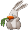 Bunny Eating Carrot Clip Art