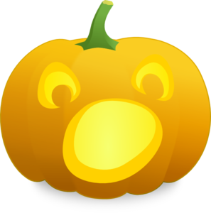 Open Mouth Jack O' Lantern Clip Art