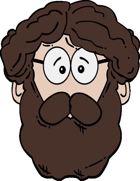 man with beard clip art at clkercom vector clip art