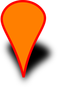 Orange Map Marker Clip Art