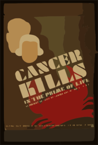 Cancer Kills In The Prime Of Life 95 Percent Of Cases Of Cancer Are In Those Over 35. Clip Art