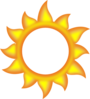 A Sun Cartoon  Clip Art