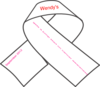 Breast Cancer Ribbon B&w Clip Art
