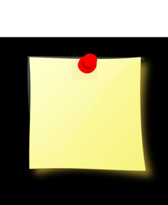 Modified Post-it Black Background Clip Art