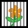 Flower Behind Bars Clip Art