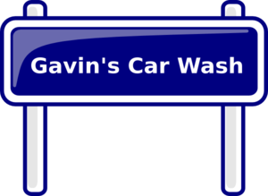 Gavin S Car Wash 2 Clip Art