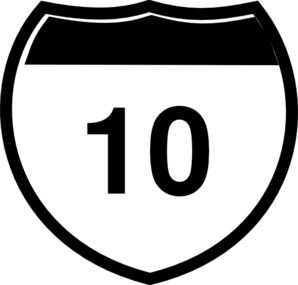 Interstate Sign I 10 Clip Art