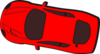 Red Car - Top View - 170 Clip Art