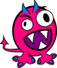 Pink And Blue Monster Clip Art