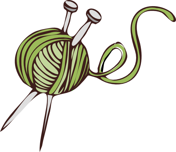 Person Knitting Clipart : Green knitting clip art at clker vector