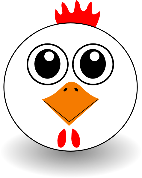cartoon chicken clip art free - photo #25