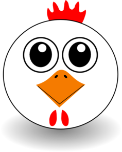 Chicken Face Cartoon Clip Art