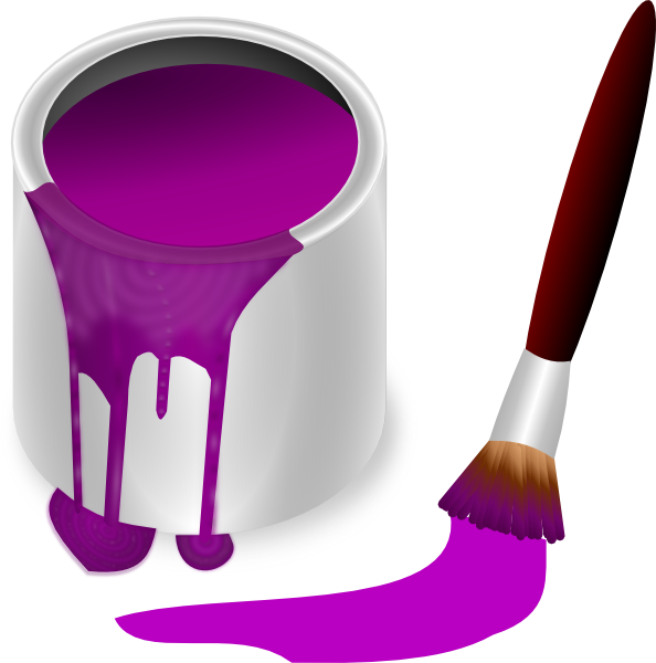 Purple Paint With Paint Brush Clip Art At Clkercom Vector Clip