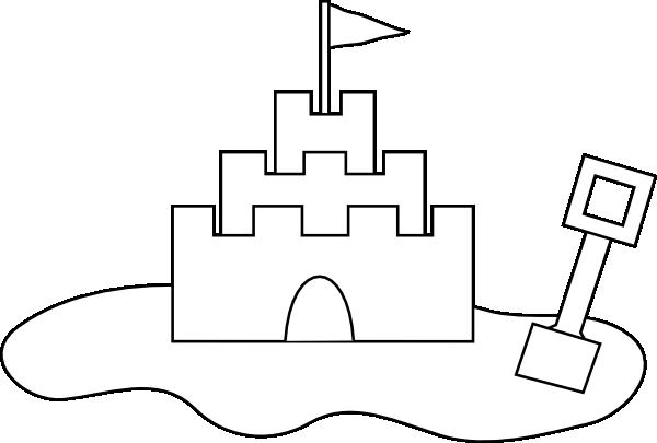 Sand Castle Outline Clip Art at Clker.com - vector clip ...