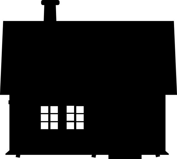 House Silhouette Png Stuck House Clip Art a...