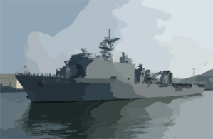 Uss Harpers Ferry Arrives In Sasebo Clip Art