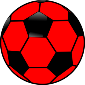 Red And Black Soccer Ball Clip Art