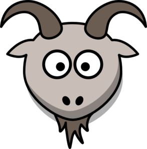 Goat Cartoon Head Clip Art at Clker.com - vector clip art online ...