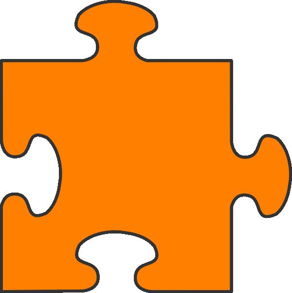 Orange Border Puzzle Piece Top Clip Art at Clker.com - vector clip ...