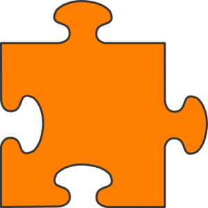 Orange Border Puzzle Piece Top Clip Art