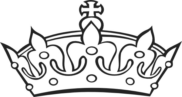 Crown black and white clipart - photo#9