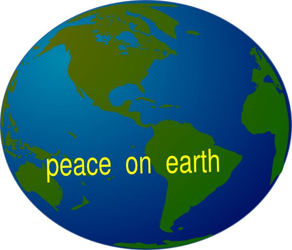 free christmas peace on earth clipart - photo #2