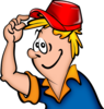 Boy With Hat Cartoon Clip Art
