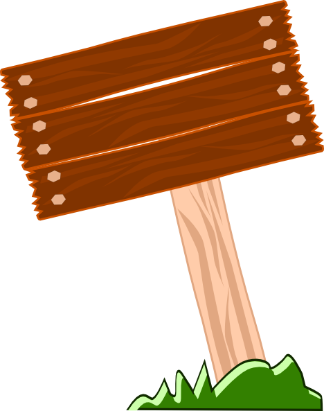Old Wooden Sign Clip Art