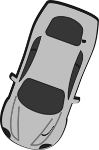 Gray Car - Top View - 250 Clip Art