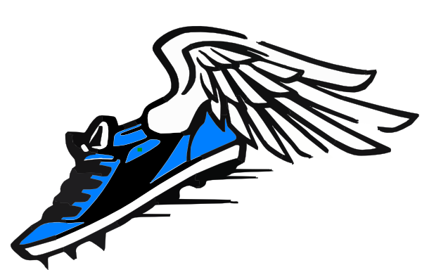 blue winged shoe clip art at clker com vector clip art online rh clker com blue shoe with wing logo shoe with wing logo company
