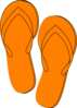 Orange Flip Flops Clip Art